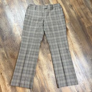 Faconnable Wool Plaid Trousers Pants Lined Sz 12